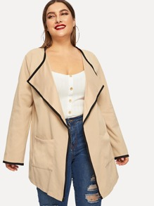 Plus Contrast Binding Pocket Patched Coat