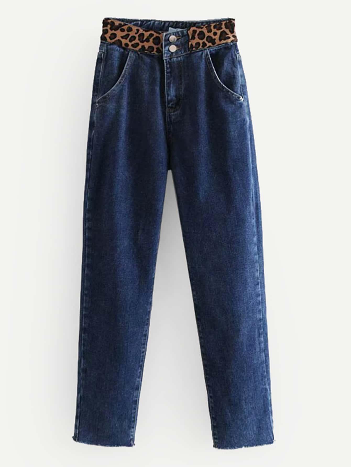 Leopard Print High Waist Jeans Leopard Print High Waist Jeans