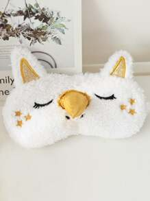 Cartoon Plush Eye Mask