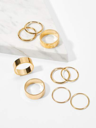 Wide Ring Set 9pcs