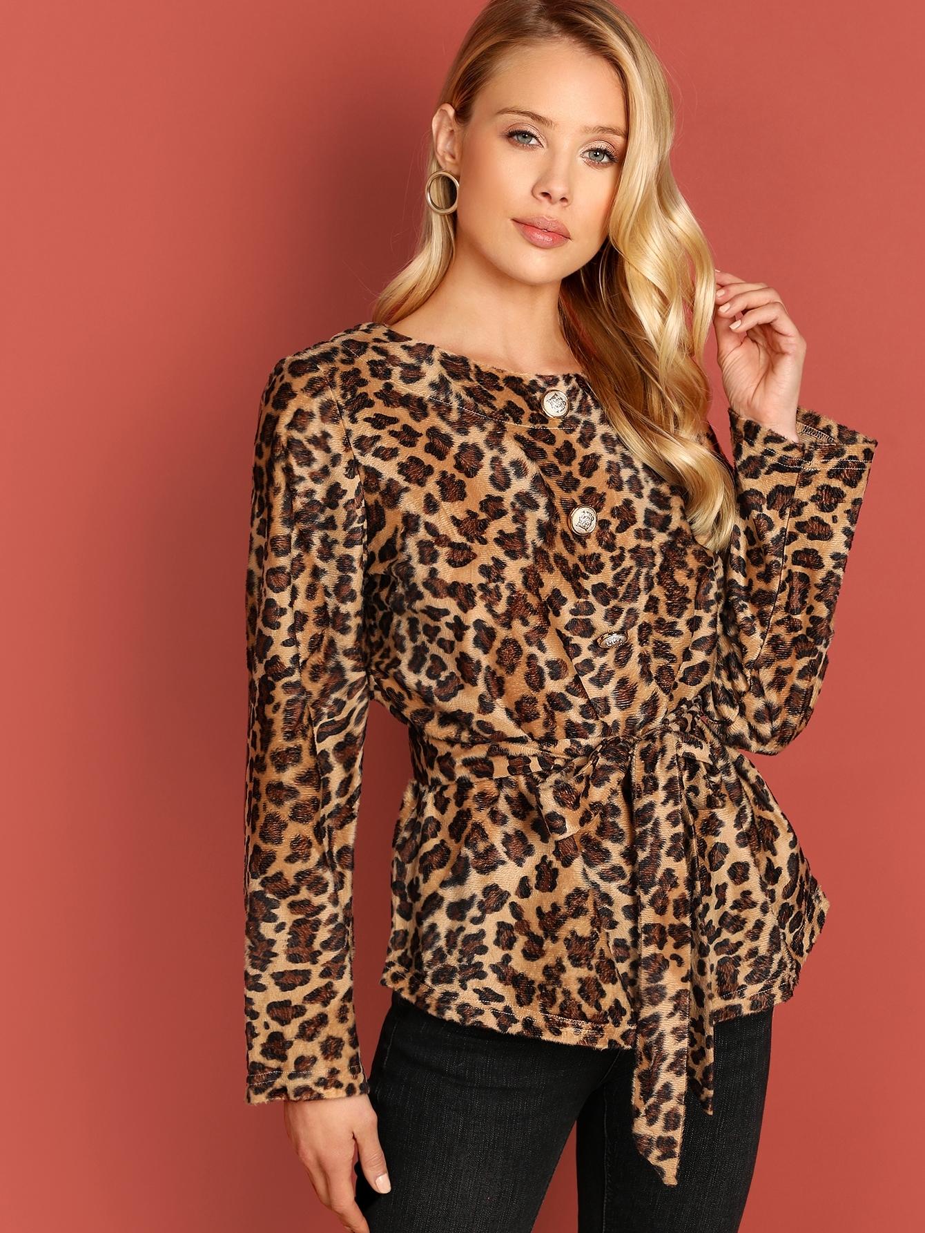 Button Up Leopard Coat Button Up Leopard Coat