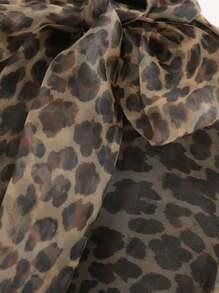 56f48561da58 Cheap Organza Pussybow Leopard Sheer Blouse for sale Australia | SHEIN