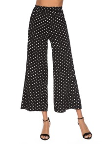 Polka Dot High Waist Wide Leg Palazzo Pants