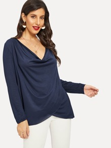 Cowl Neck Wrap Tee