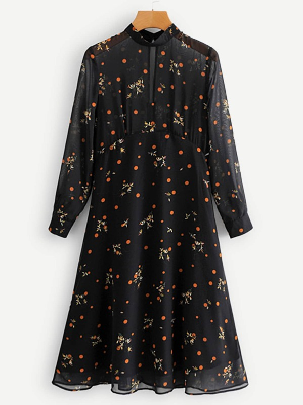 e0b7f41f780b Cheap Polka Dot   Floral Print Dress for sale Australia