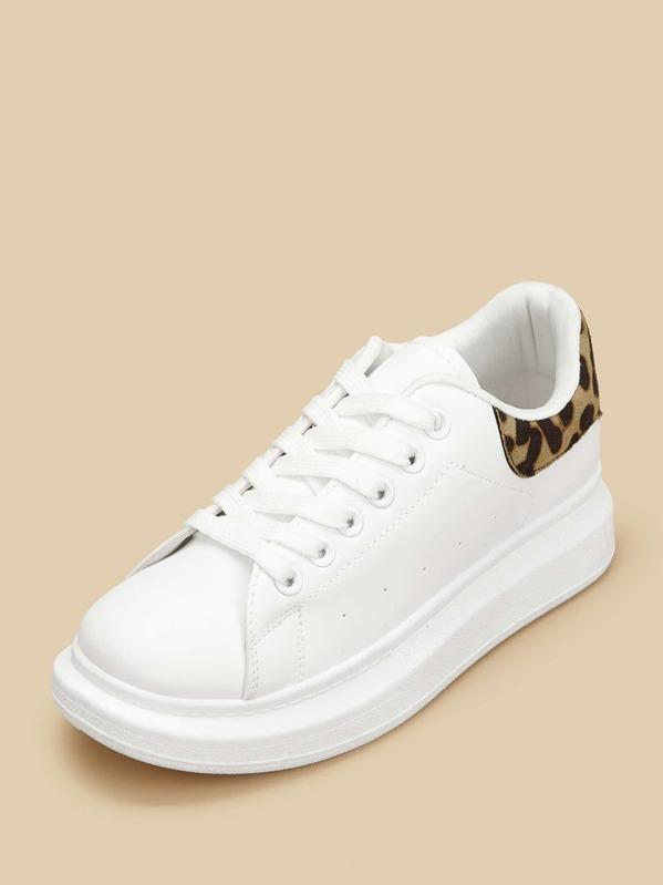 Sneakers Sneakers Stringate Con Stringate Leopardata Sneakers Stampa Leopardata Con Stampa MSVUzp