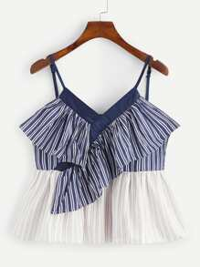 Ruffle Striped Cami Top
