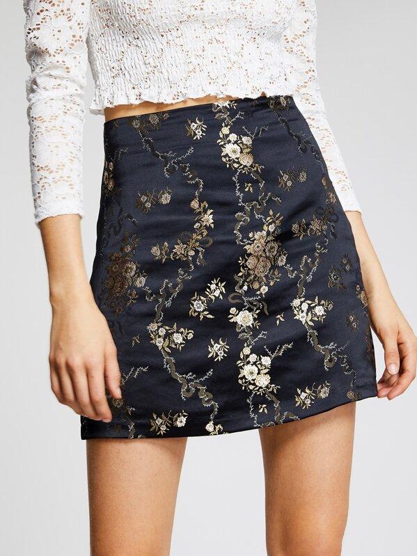 e58752f4dfbb Oriental Print Mini Skirt | SHEIN UK