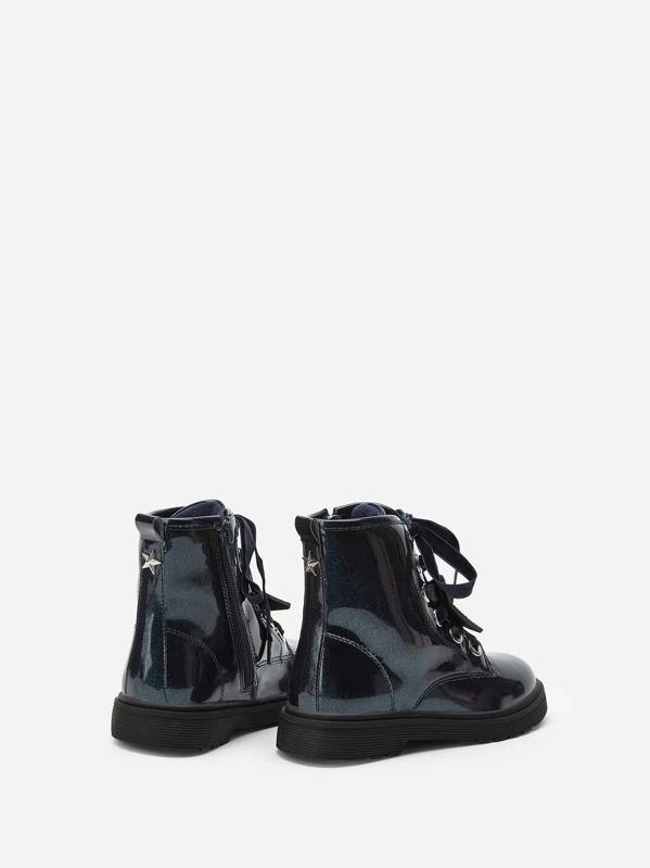 f056b7c149 Toddler Girls Star Decor Lace-up Boots | SHEIN UK