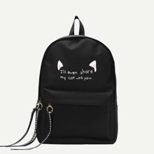 INOpets.com Anything for Pets Parents & Their Pets Slogan Print Pocket Front Backpack
