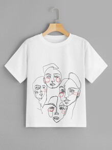 Abstract Figure Print Tee