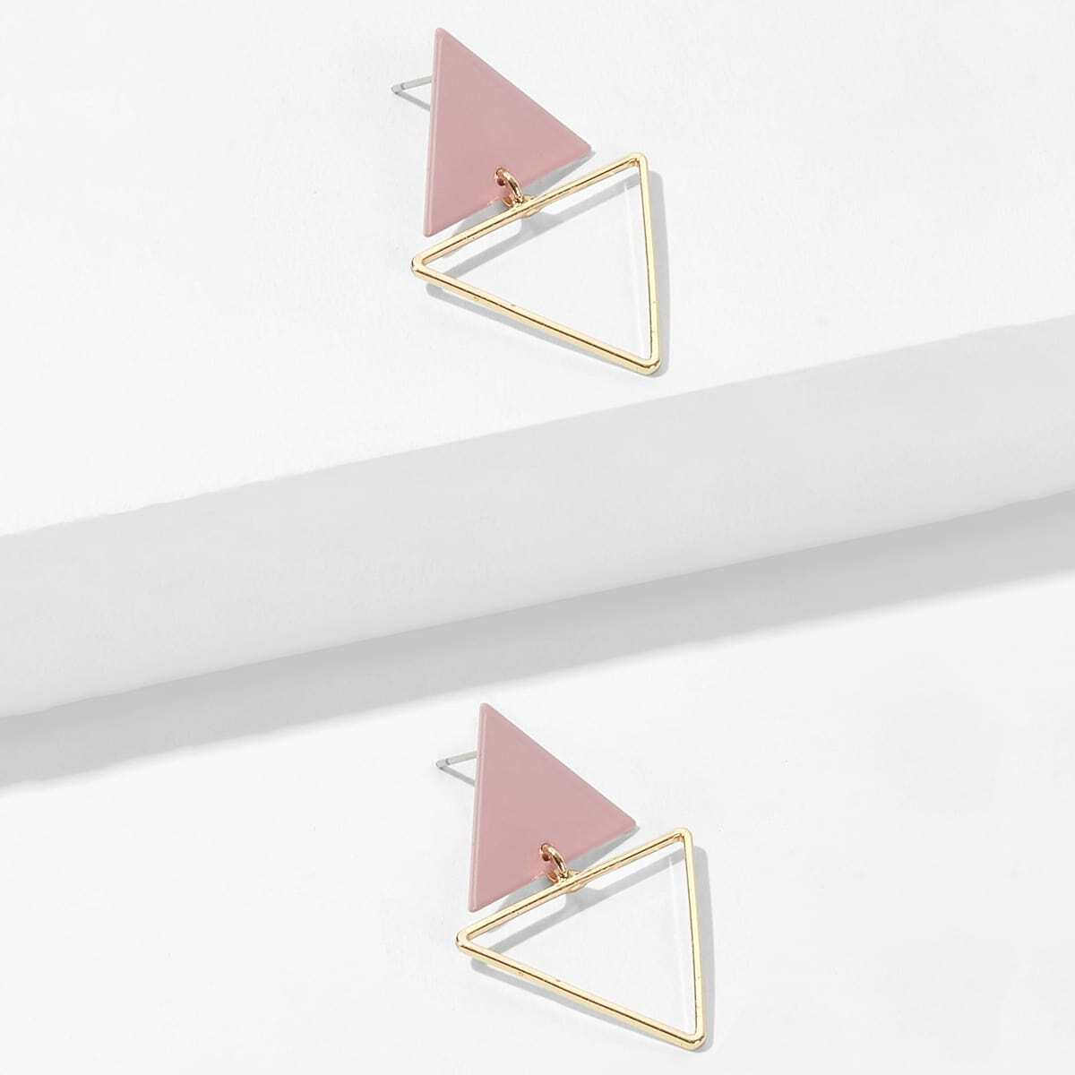 Doppelte Dreieck förmige Ohrstecker