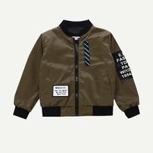 Toddler Boys Letter Patched jacket