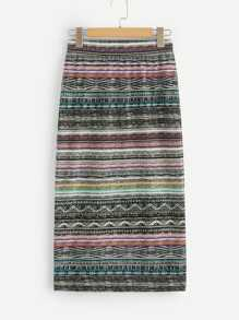 Tribal Print Pencil Skirt