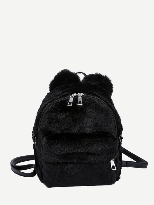 0933b902c8 Faux Fur Fluffy Backpack