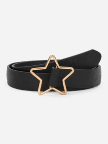 Metal Star Shaped Buckle Belt