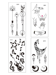 Mix Pattern Tattoo Sticker 4sheets