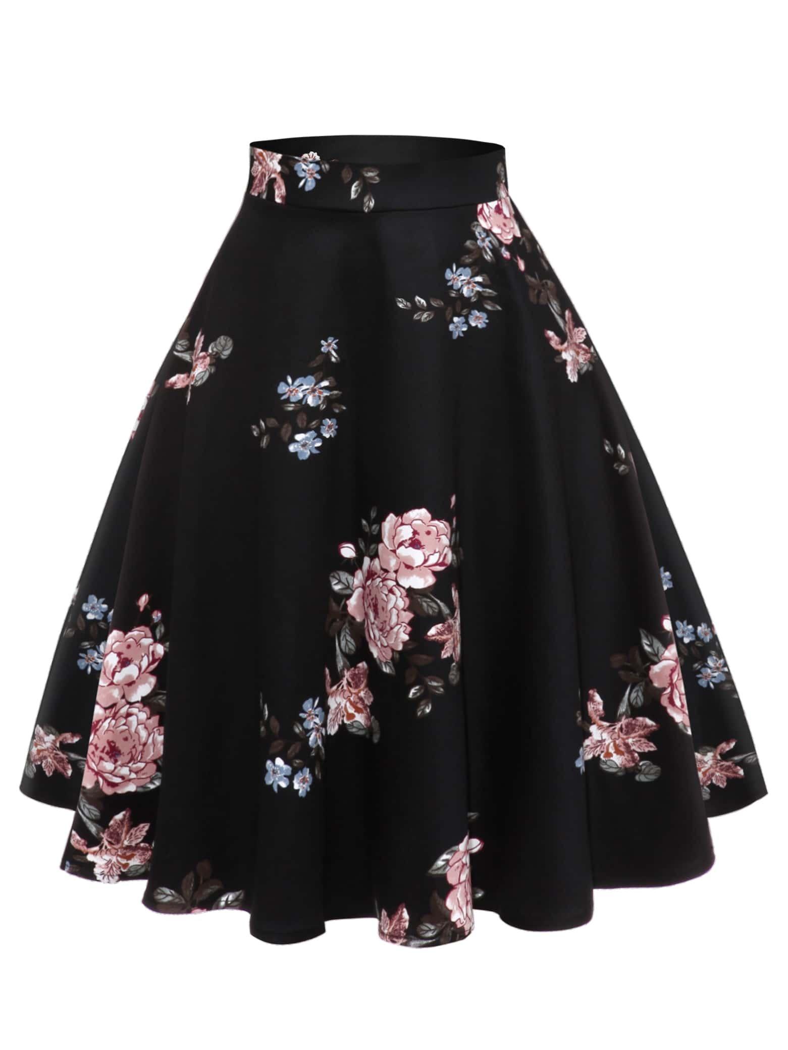 50s юбка с цветочным принтом thumbnail
