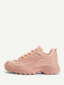 Lace-up Chunky Sole Sneakers
