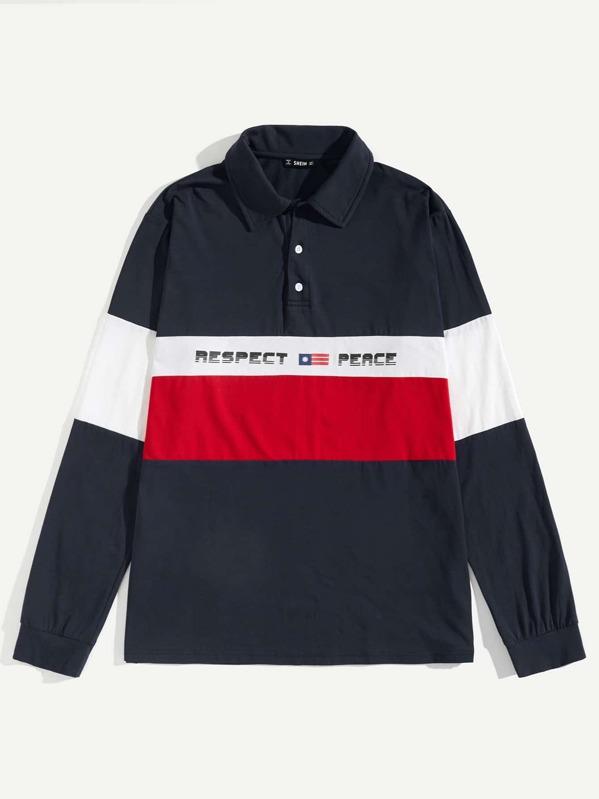5695468b3e38 Cheap Men Color-block Letter Print Polo Shirt for sale Australia | SHEIN
