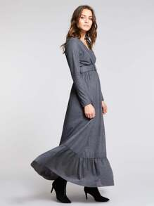 23be5f9d588 Wrap Front Jersey Maxi Dress