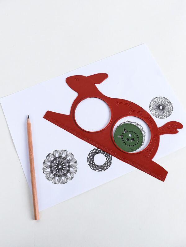 Rastgele Renkli Kaplumbağa Ve Tavşan çizim Modeli Cetvel 1 Adet