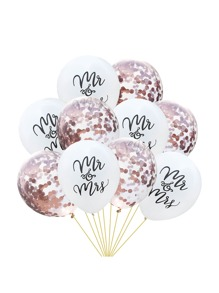 Letter & Sequin Decor Balloon 10pcs
