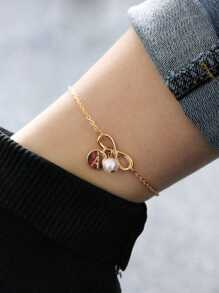 Infinity & Letter Chain Anklet