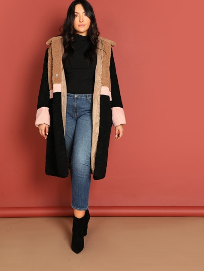 Plus Cut-and-sew Teddy Coat