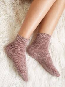 Plain Chenille Socks