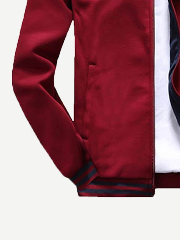 ddf568a54b Men Letter Embroidered Sweatshirt With Pants   SHEIN