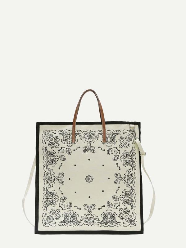 3a16d794cca Paisley Print Canvas Tote Bag