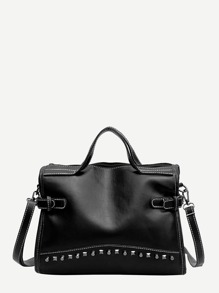 Studded Detail Satchel Bag
