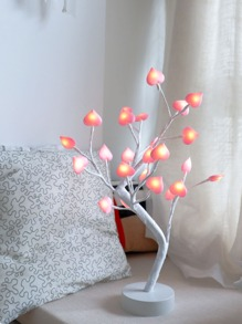 24pcs Heart Bulb Tree Shaped Table Lamp 12V