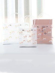Unicorn Print Gift Storage Bag 3pcs