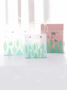 Leaf Print Gift Storage Bag 3pcs