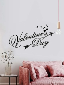 Slogan Print Wall Sticker