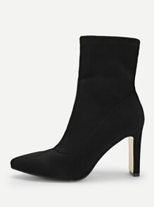 Solid Point Toe Suede  Boots