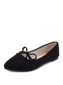 Point Toe Suede Flats