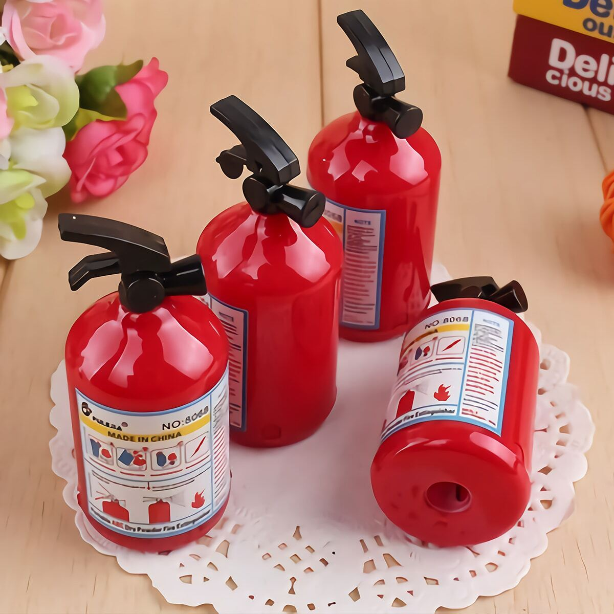 SHEIN coupon: Fire Extinguisher Shaped Sharpener 1pc