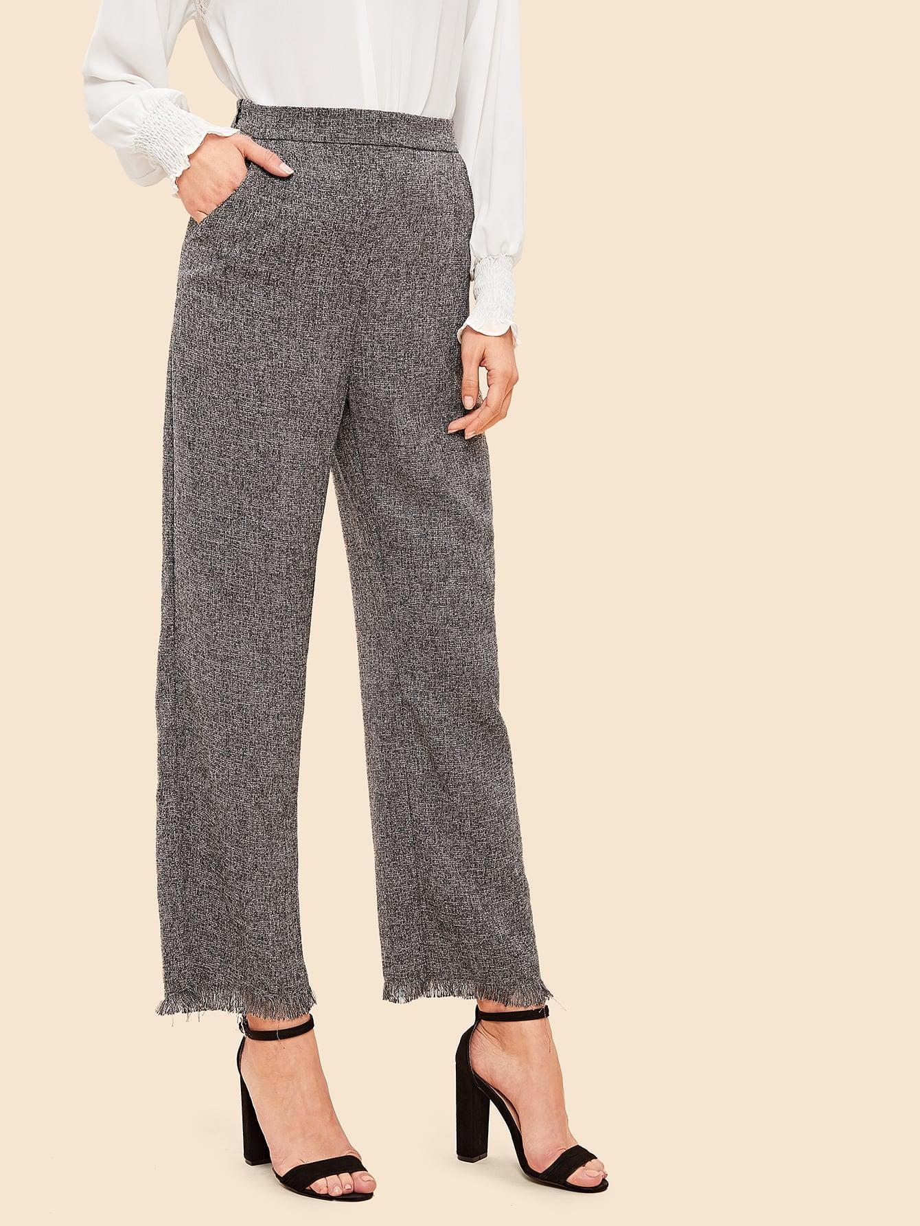 70s  широкие твидовые брюки со складкой thumbnail
