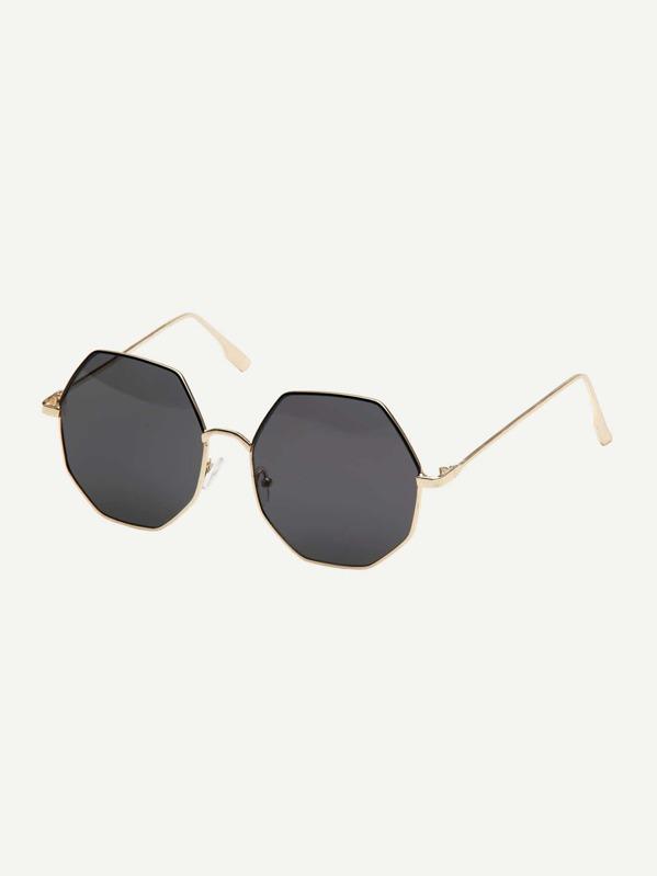 f67af69c5515 Men Polygon Frame Sunglasses