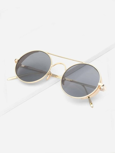 Guys Top Bar Round Lens Sunglasses
