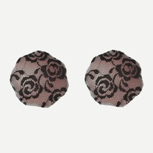 INOpets.com Anything for Pets Parents & Their Pets Floral Lace Overlay Self Adhesive Nipple Cover 1pair