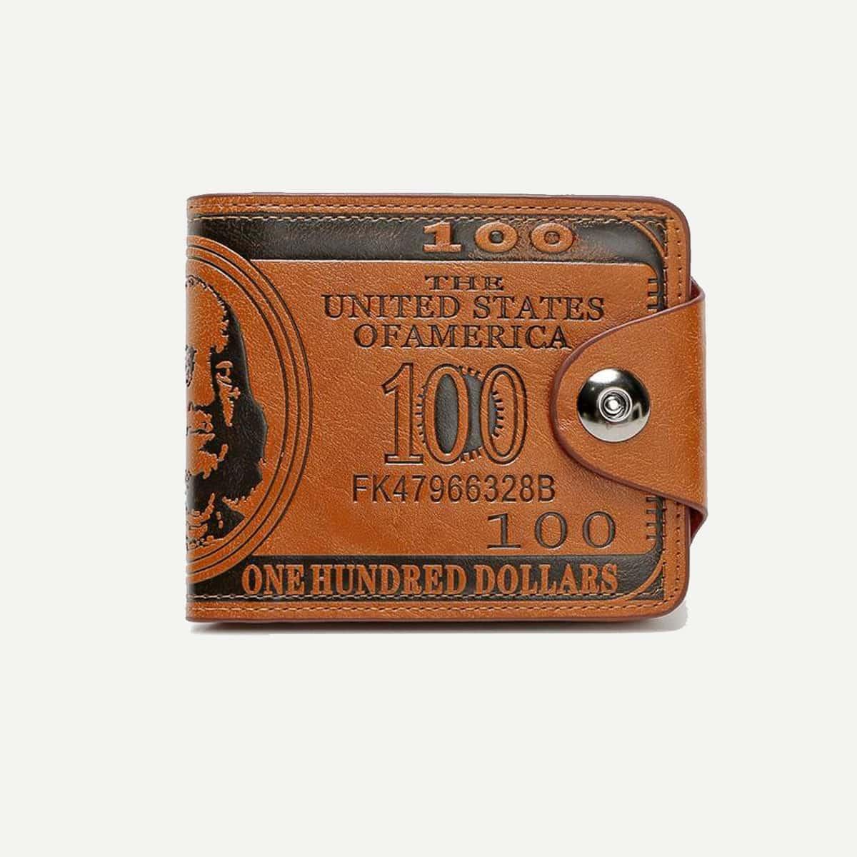 Мужской кошелёк с текстовым принтом