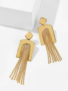 Chain Tassel Drop Earrings 1pair