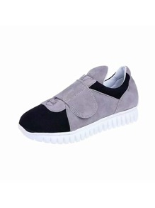 Slip On Velcro Strap Suede Sneakers