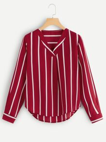 Plus Striped Blouse