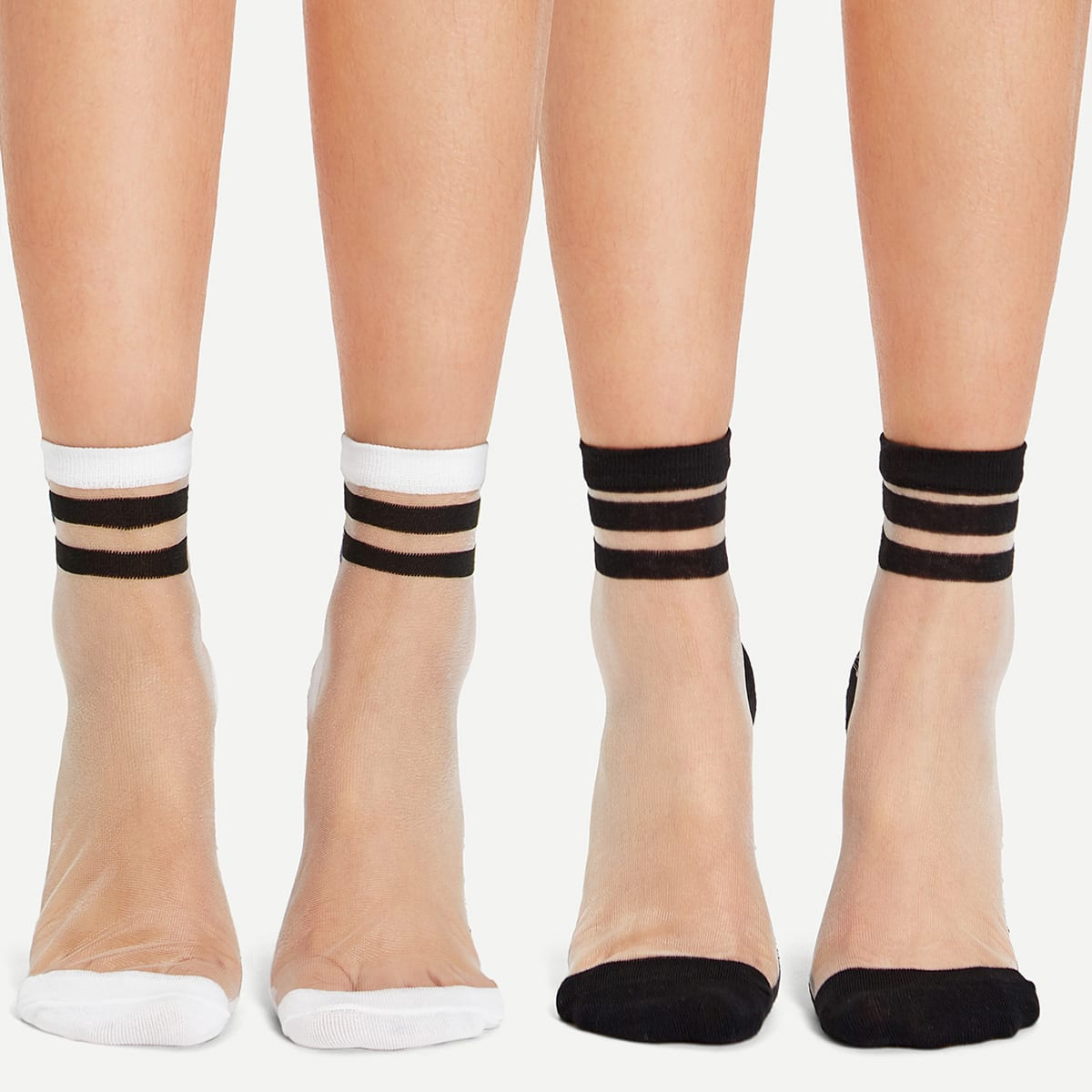 SHEIN coupon: Crystal Silk Ankle Socks 2pairs