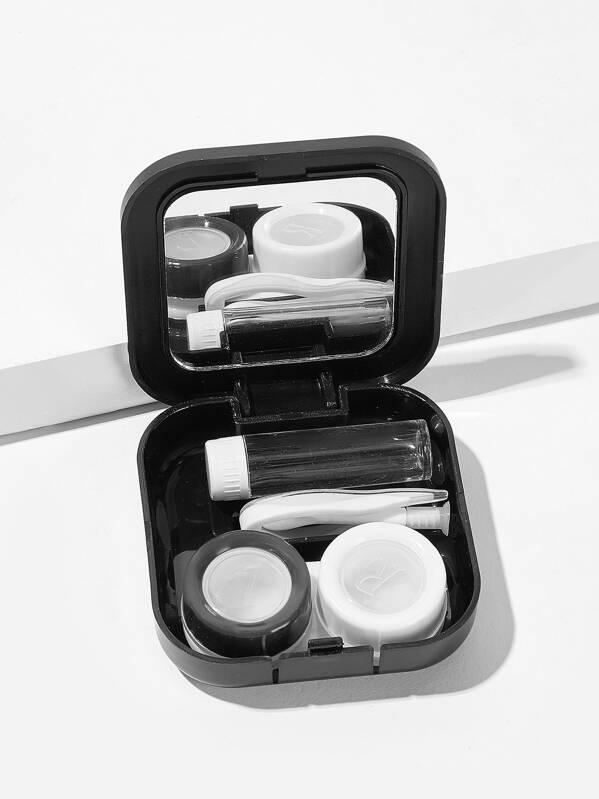80220de5d5 Mirror Detail Square Contact Lens Case Set 5pack | SHEIN